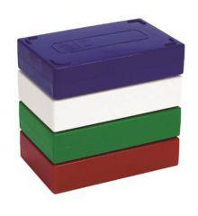 FB Premium Microscope Slide Box, 100-Place, Foam, White