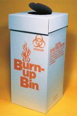 BOX BIOHAZ BURN-UP BIN 6/CS
