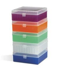 Fisherbrand Polypropylene Vials Storage Boxes Black Pack of 5