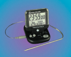Fisher Scientific Digital Thermometers with Stainless-Steel Probe on Cable