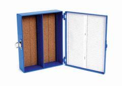 Tall Slide Box 100-Place, Cork, Blue