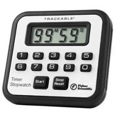 Fisher Scientific Traceable Countdown/Countup Timer Stopwatch - ALARM TIMER/STOPWATCH (HAZARDOUS)