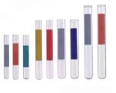 Fisherbrand Disposable Plain-End Glass Tubes with Color-Coded Label Area
