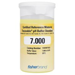 Traceable® pH One-Shot™ Standard Certified Reference Material (CRM) 7.000, Yellow, (pack of 6)