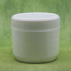 250ml White HDPE Container w/ Screw Cap & Stopper 80pcs/pk