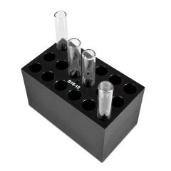 B18-12, Block with 18 sockets for 12x75 mm round bottom tubes