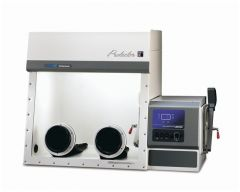 Protector Fiberglass HEPA Filtered Glove Box, 208/230V, 50/60Hz, British (UK) Plug & Receptacle