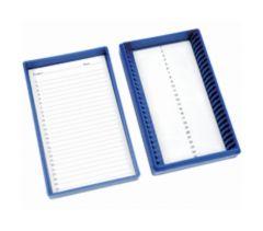 Fisherbrand Premium Microscope Slide Box, 25-Place, Foam, Blue