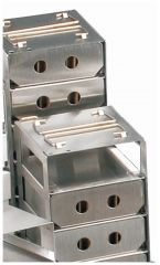 Arrowhead racks for liquid phase storage