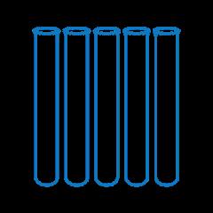 Glass sample tubes (16Ñ…100x0.8mm), 78 pcs