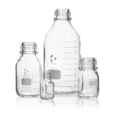 DURAN® Laboratory bottle, clear, graduated, GL 32, without cap and pouring ring, 50 ml
