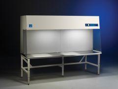 "8' Purifier Stainless Steel Horizontal Clean Bench with UV Light, 26.0"" interior depth, 230V, 50/60Hz, British (UK) Plug"