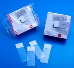 Thermo Scientific™ Gold Seal™ Rite-On™ Frosted Microslides, Frosted on both sides, 3 x 1 in., 1mm, Frosted on both sides