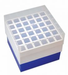 Argos Technologies™ PolarSafe™ Polypropylene Freezer Boxes, Blue; 15mL box; Holds 36 tubes
