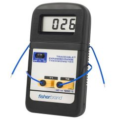 Fisherbrand™ Traceable™ Expanded-Range Thermometers, Range: -40deg. to +1200deg.C; 4 ft.cable