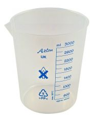 BEAKER PP LOW FORM BLUE PRINTED GRAD 3000ML