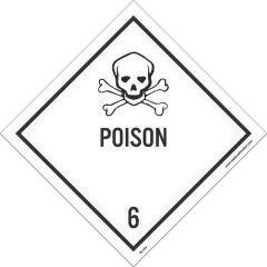 National Marker™ Safety Signs Poison Warning Sign