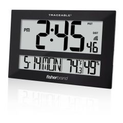 Fisherbrand™ GIANT-DIGITS™  Radio Atomic Traceable Clock with Humidity