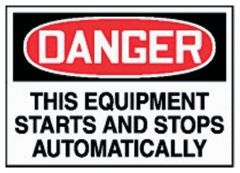 Accuform Signs Equipment Safety Labels