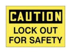 Accuform Signs Lockout / Tagout Safety Labels