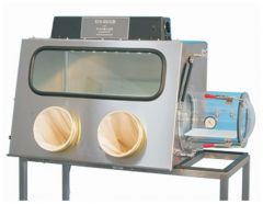 Plas Labs™ Model 819 Integrity Stainless-Steel Glove Box