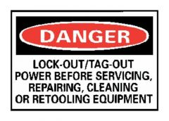"""National Marker™ """"Danger: Lock-out/Tag-out Power..."""" Signs"""