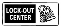 """National Marker™ """"Lock-Out Center"""" Sign"""