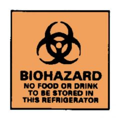 National Marker™ Biohazard: No Food or Drink to be Stored Sign