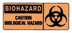National Marker™ Biohazard: Caution Biological Hazard Sign