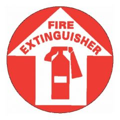 "National Marker™ ""Fire Extinguisher"" Walk-On Floor Sign"