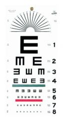 Graham-Field™ Grafco™ Illiterate Eye Chart