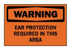 "Brady™ ""Warning: Ear Protection Required..."" Signs"