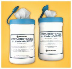 Fisherbrand™ Premoistened Wipes, Premoistened with isopropyl alcohol and deionized water