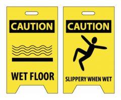 National Marker™ Caution Wet Floor/Slippery When Wet Sign