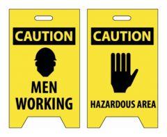 National Marker™ Caution Men Working/Hazardous Area Signs