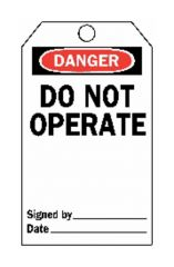 "Brady™ ""Do Not Operate"" Tags"