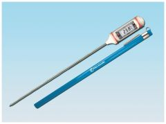 Fisherbrand™ Traceable™ Digital Thermometers with Stainless-Steel Stem, 0.25 in. LCD Screen, and Protective Guard, Long-stem; Resolution: 0.1deg.C from -20deg. to +200deg.C; Accuracy: +/-1deg.C