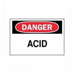 "Brady™ ""Danger: Acid"" Signs"