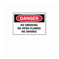 "Brady™ ""Danger: No Smoking, No Open Flames, No Sparks"" Signs"