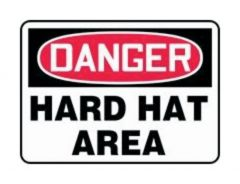 Accuform Signs Danger: Hard Hat Area Sign