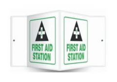 Accuform Signs Safety Projection Sign: First Aid Station