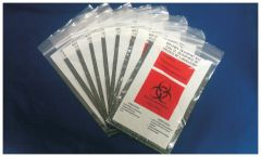 Cen-Med Black Biohazard Specimen Bag, 6 x 9 in.