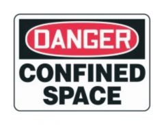 Accuform Signs Danger: Confined Space
