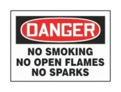 Accuform Signs No Smoking No Open Flames No Sparks
