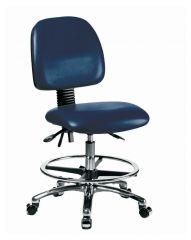 Fisherbrand™ Medium-Form Vinyl Chair with Cast Aluminum Frame, back tilt