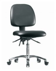 Fisherbrand™ Low Form Vinyl Chairs with Polished Cast Aluminum Frame, Desk Height