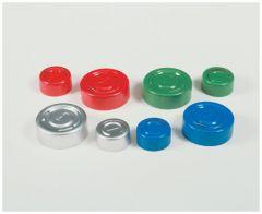 DWK Life Sciences Kimble™ Kontes™ Center Tear-Off Aluminum Seals, Color Coded