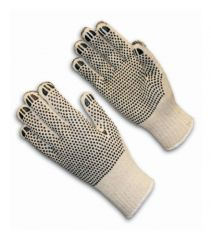 PIP™ Heavy Weight Seamless Knit Cotton / Polyester Glove with Double-Sided PVC Dot Grip