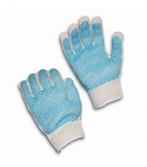 PIP™ Seamless Knit 7 Gauge Cotton / Polyester Gloves with Double-Sided PVC Dot Grip