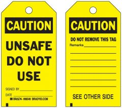 Brady™ Accident Prevention Tags with Different Fronts and Backs